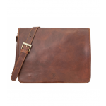 Leder Messenger Bag
